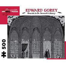 Пазл Pomegranate, 500 элементов - Эдвард Гори: Дракула в библиотеке доктора Сьюарда