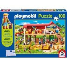 Пазл Schmidt, 100 элементов - Playmobil Фермерское хозяйство