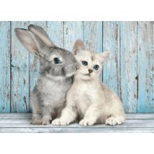 Пазл Clementoni, 500 элементов - Котенок и кролик