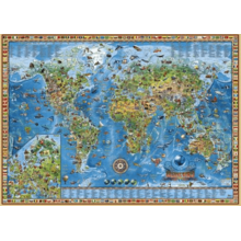 Пазл Heye, 3000 элементов - Карта географическая