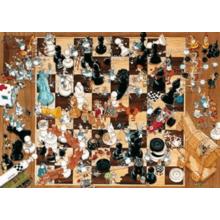 Пазл Heye, 1000 элементов - Degano: Шахматы