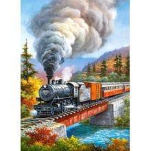 Пазл Castorland, 200 элементов - Железная дорога