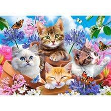 Пазл Castorland, 120 элементов - Котята в цветах