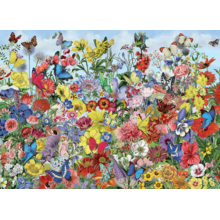 Пазл Cobble Hill, 1000 элементов - Бабочки в цветах