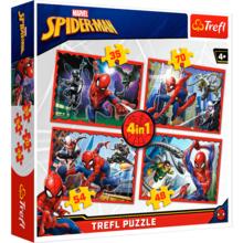 Пазл Trefl, 4 в 1 (35+48+54+70) элементов - Человек-паук