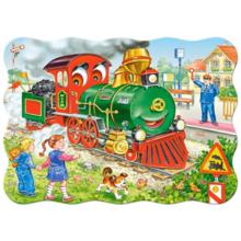 Пазл Castorland, 30 элементов - Зеленый локомотив