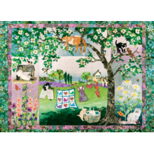 Пазл Cobble Hill, 1000 элементов - Забавные котята в цветах