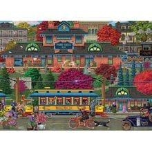 Пазл Cobble Hill, 500 элементов - Joseph Burgess: Остановка трамвая