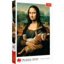 Пазл Trefl, 500 элементов - Мона Лиза с котом