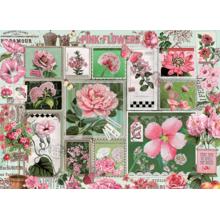 Пазл Cobble Hill, 1000 элементов - Коллаж-Розовые цветы