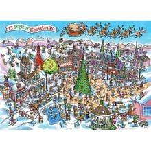 Пазл Cobble Hill, 1000 элементов - Юмор - Рождество