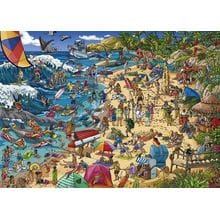 Пазл Heye, 1000 элементов - Отдых на побережье