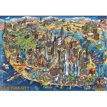 Пазл Educa, 500 элементов - Карта Нью-Йорка