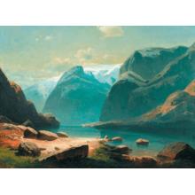 Пазл Stella, 3000 элементов - Саврасов А.К.: Озеро в горах Швейцарии