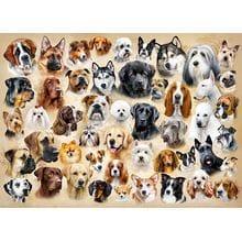 Пазл Castorland, 200 элементов - Породы собак, коллаж