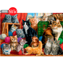 Пазл Trefl, 1000 элементов - Кошачья встреча