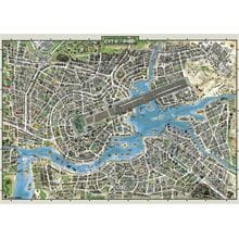 Пазл Heye, 2000 элементов - Город музыки, карта
