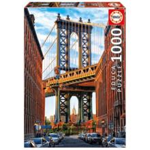 Пазл Educa, 1000 элементов - Манхэттенский мост, Нью-Йорк