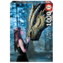 Пазл Educa, 1000 элементов - Девушка и дракон