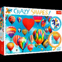 Пазл Trefl, 600 элементов - Цветные воздушные шары, Crazy Shapes