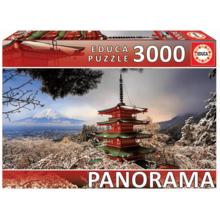 Пазл Educa, 3000 элементов - Гора Фудзи и пагода Чурейто
