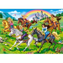 Пазл Castorland, 260 элементов - Принцессы и лошади