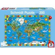 Пазл Schmidt, 200 элементов - Твой удивительный мир (карта)