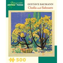 Пазл Pomegranate, 500 элементов - Гюстав Бауманн: Кактусы -Чолла и Сагуаро