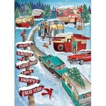 Пазл Cobble Hill, 1000 элементов - Рождественские каникулы. Кемпинги