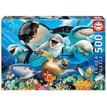 Пазл Educa, 500 элементов - Подводное селфи