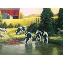 Пазл Cobble Hill, 500 элементов - Коровы у реки