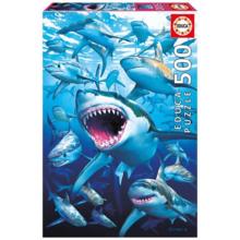 Пазл Educa, 500 элементов - Стая акул