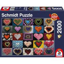 Пазл Schmidt, 2000 элементов - Цветочные сердца
