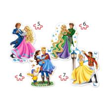 Пазл Castorland 4 в 1 (4,5,6,7) элементов - Бал принцесс