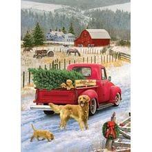 Пазл Cobble Hill, 1000 элементов - Рождество на ферме