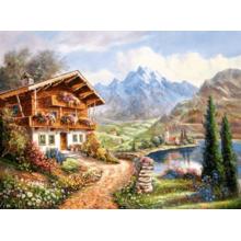 Пазл Castorland, 2000 элементов - Дом в горах