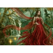 Пазл Heye, 3000 элементов - Девушка в красном, Ortega