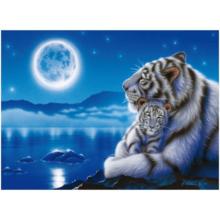 Пазл Clementoni, 500 элементов - Тигры. Полнолуние