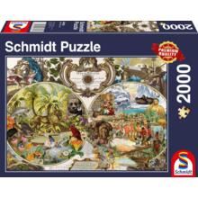 Пазл Schmidt, 2000 элементов - Экзотическая карта мира