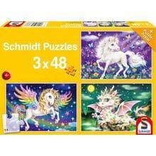 Пазл Schmidt, 3х48 элементов - Мистические животные