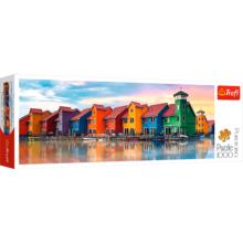 Пазл Trefl, 1000 элементов - Цветные домики, Нидерланды