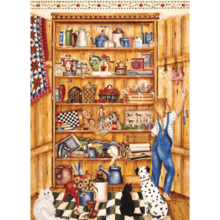Пазл Cobble Hill, 1000 элементов - Shelley McVittie Деревянная кладовая