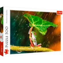Пазл Trefl, 500 элементов - Зеленый зонт