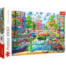 Пазл Trefl, 1500 элементов - Амстердамский канал