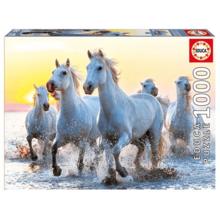 Пазл Educa, 1000 элементов - Белые лошади на закате
