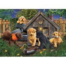 Пазл Cobble Hill, 1000 элементов - Jerry Gadamus: Домик для собак