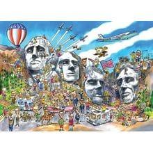 Пазл Cobble Hill, 1000 элементов - Мемориал на горе Рашмор