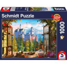 Пазл Schmidt, 1000 элементов - Вид на сказочный замок