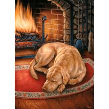 Пазл Cobble Hill, 1000 элементов - Собака у камина