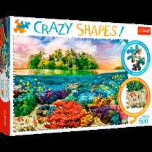 Пазл Trefl, 600 элементов - Тропический остров, Crazy Shapes